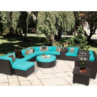 Miseno MPF-BRBD12A Caribbean 12-Piece Aluminum Framed Outdoor Conversation Set w