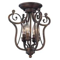 Millennium Lighting 1144 Chateau 4-Light Semi-Flush Ceiling Fixture - Rubbed bronze
