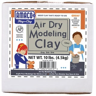 Gray - Air-Dry Modeling Clay 10Lb
