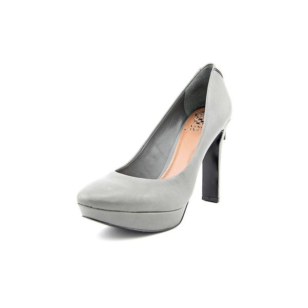 Vince Camuto Saxon Women Round Toe Leather Gray Heels