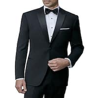 Ike Behar Black Slim Fit Tuxedo with Peak Lapel