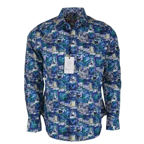 Robert Graham IN THE ABSTRACT Printed Cotton Button Down Shirt