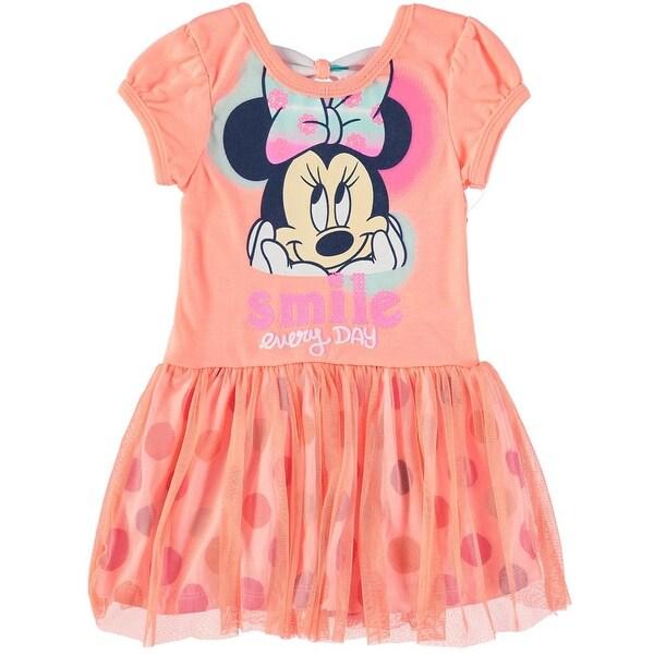 aec8983b8c1cc Bentex Girls 2T-4T Minnie Mouse Tulle Dress - Orange