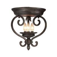 Woodbridge Lighting 36000 Hawthorne 3 Light Flush Mount Ceiling Fixture