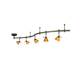 Tech Lighting 800RAL5AMZ Tiella 5 Light Sola Rail Kit with 100 Watt Surface Tran - Antique Bronze