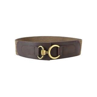 Style & Co. Women's Woven Pleather Stretch Hook Belt