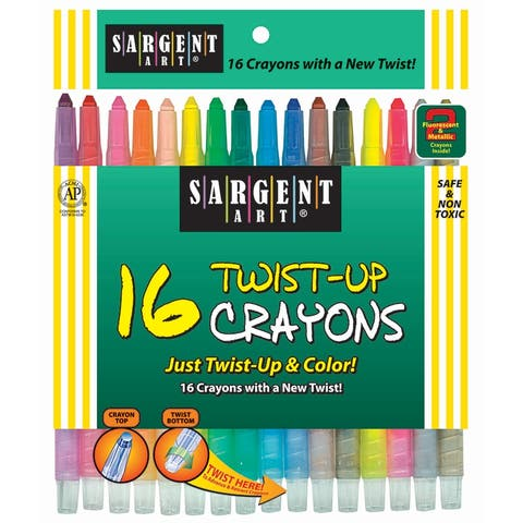 Sargent art 16 ct twist up crayon 550981