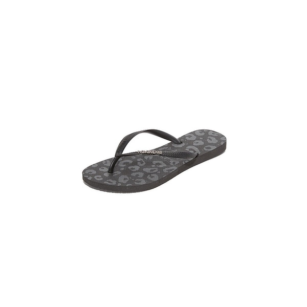 Havaianas Womens Slim Metal Split Toe Casual Flat Sandals