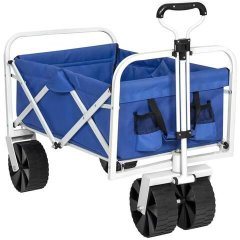 Folding Sturdy Utility Wagon Garden Beach Cart