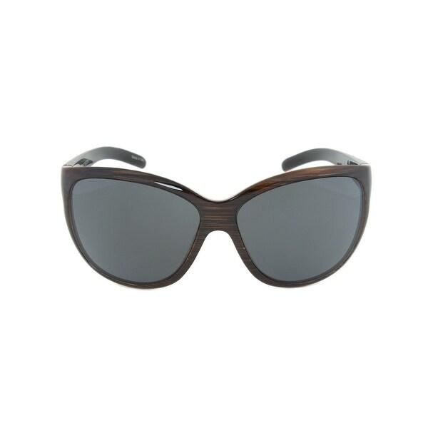 Porsche Design Design P8524 C Sunglasses | Striped Brown Frame | grey Lens - 65mm x 13mm x 125mm. Opens flyout.