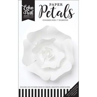 Small White Rose - Echo Park Paper Petals