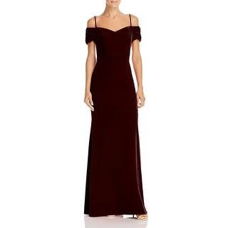 Link to Laundry by Shelli Segal Women's Velvet Off The Shoulder A-Line Full Length Gown Similar Items in Dresses