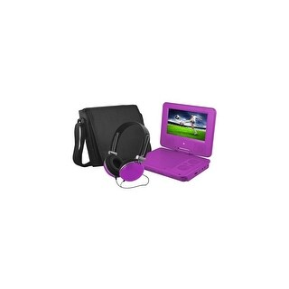 Ematic EPD707PR Ematic EPD707 Portable DVD Player - 7 Display - 480 x 234 - Purple - DVD-R, CD-R - JPEG - DVD Video, Video