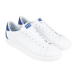 Skechers Omne Mens White Leather Lace Up Lace Up Sneakers Shoes