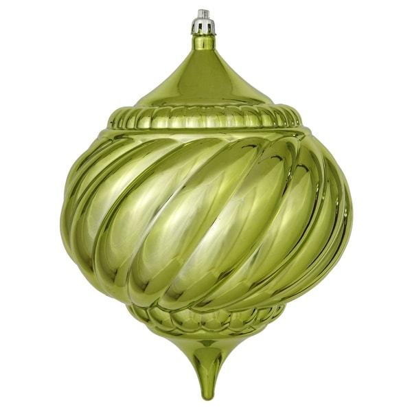 "5.9"" Lime Shiny Onion Swirl Orn"