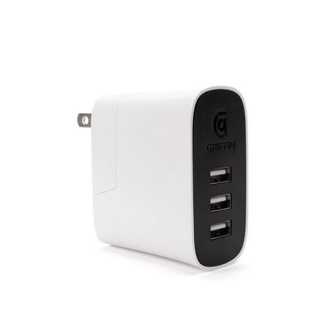 Griffin Powerblock Ultra Powerful 3-Port USB with Charge Sensor - White