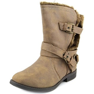 Carlos by Carlos Santana Hagen 2 Women Round Toe Synthetic Brown Mid Calf Boot
