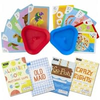 Set of 4 Classic Childrens Card Games with 2 Card Holders
