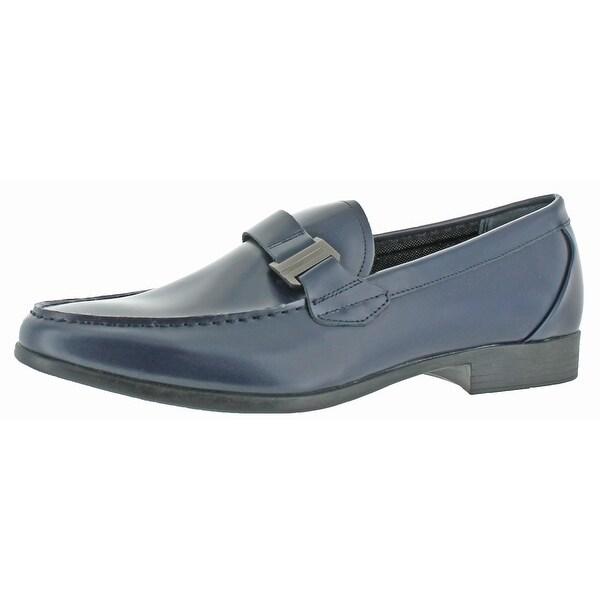 Calvin Klein Men's Loki Matte Leather Loafers Shoes