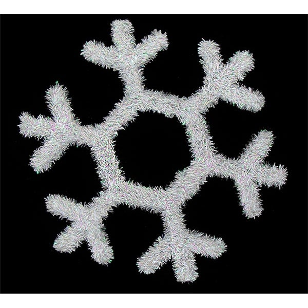 "17"" White Iridescent Snowflake Hanging Christmas Decoration"