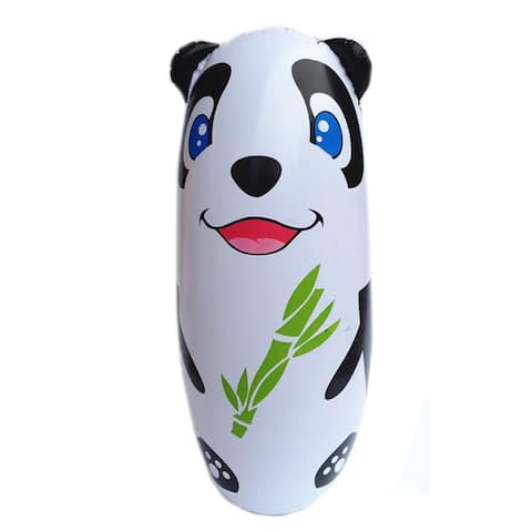Inflatable Toy 90cm Large Tumbler Thick Cartoon - Black
