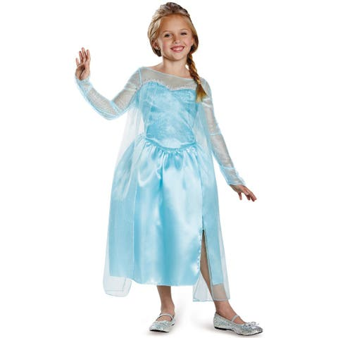 Disguise Elsa Snow Queen Gown Classic Child Costume - Blue