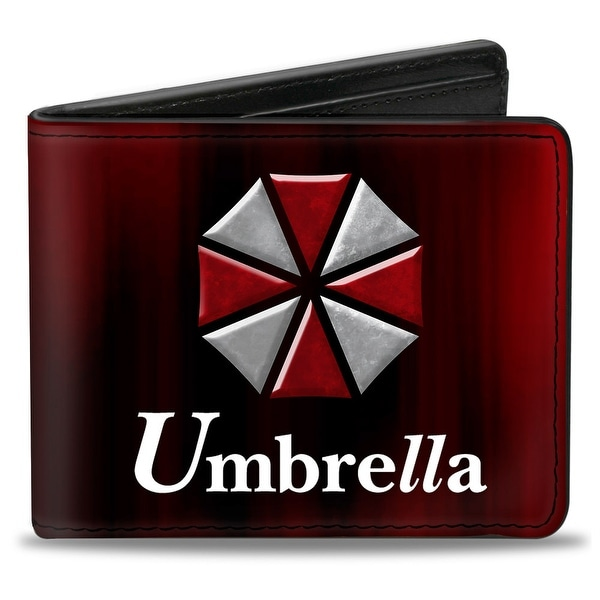 Resident Evil Umbrella Black Red White Bi Fold Wallet - One Size Fits most