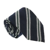 Missoni U5145 Grey/Navy Regimental 100% Silk Tie - 60-3