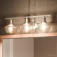 """Luxury Vintage Bathroom Vanity Light, 7.5""""H x 25.5""""W, with Farmhouse Style, Brushed Nickel Finish by Urban Ambiance"""