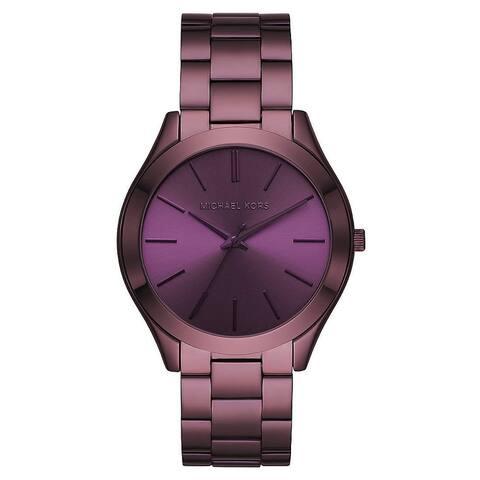 Michael Kors Violet Slim Runway Purple Stainless Steel Woman Watch