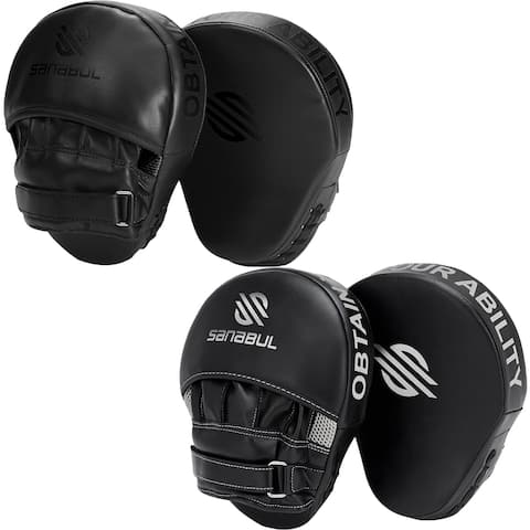 Sanabul Essential Curved Boxing and MMA Punch Mitts - One Size