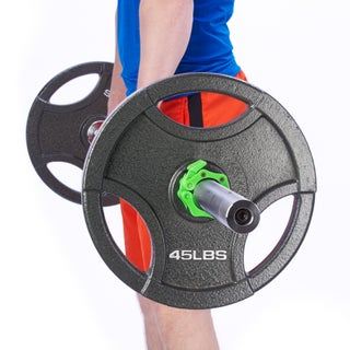 Black Mountain Products Barbell Clamps with Quick Release for 2 inch Olympic Bars (Option: Green)