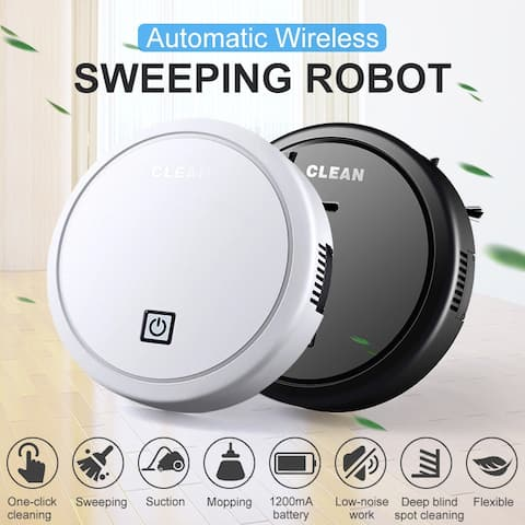 ES23 Automatic Wireless Sweeping Robot USB Charging Vacuum Cleaner Cordless Cleaning Robot