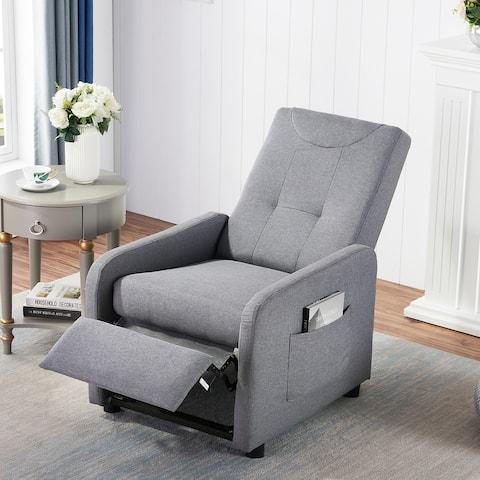 Grey Sofa Chair and Adjustable Lounge Chair