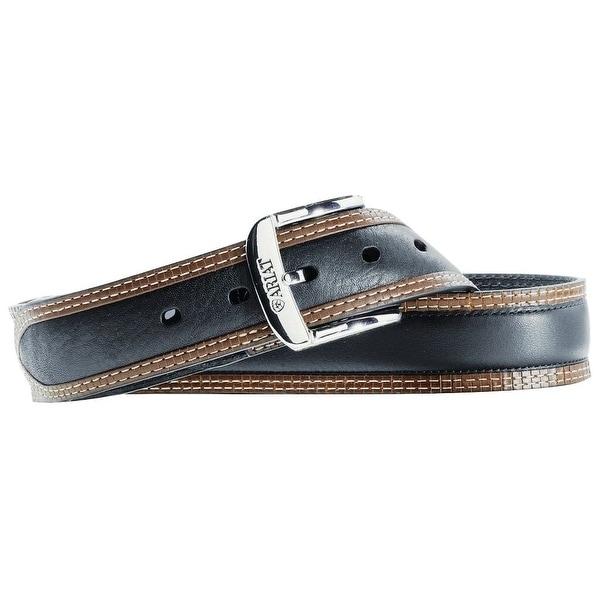 Ariat Western Belt Mens Leather Diesel Black Deertan