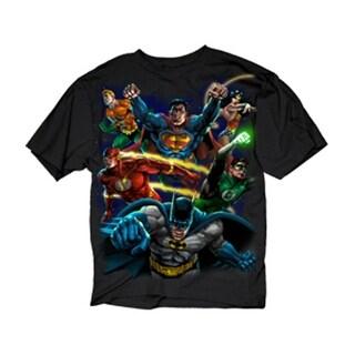 DC Comics Men's Heroes Paint Shirt