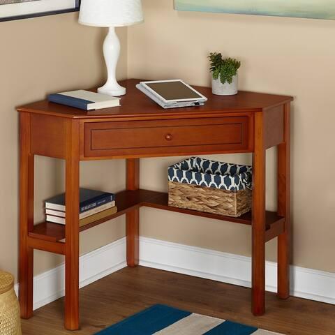 Porch & Den Lincoln Solid Wood/MDF Corner Computer Desk