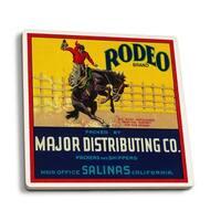 Rodeo Vegetable - Vintage Label (Set of 4 Ceramic Coasters)