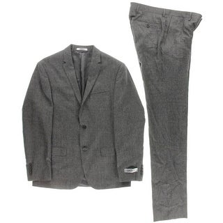 DKNY Mens Two-Button Suit Wool 2PC