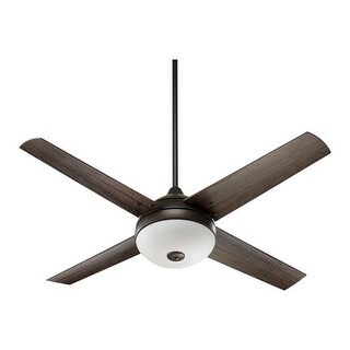 "Quorum International 18524 52"" 4 Blade Outdoor Patio Ceiling Fan with Blades and 3 Bulb Light Kit Included from the Orbit"