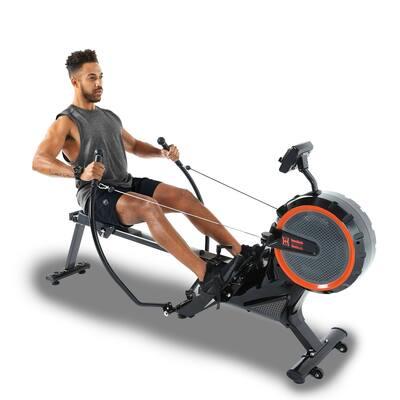 Women's Health Men's Health Bluetooth Dual Handle Rower with MyCloudFitness App
