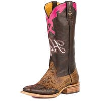Tin Haul Western Boot Womens Hope Strong Brown