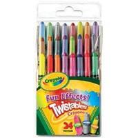 24/Pkg - Crayola Fun Effects! Twistables Crayons