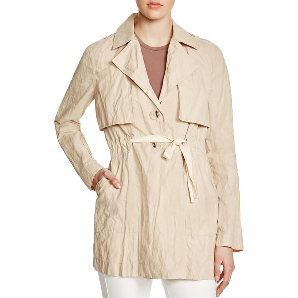 Sanctuary Womens Trench Coat Metallic Twill