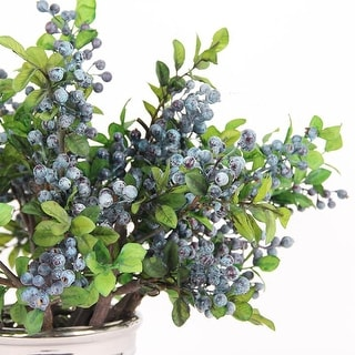 "FloralGoods Artificial Berry Stem in Blue 18"" Tall"
