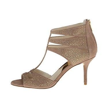 MICHAEL Kors Women's Mavis T-Strap Embellished Sandals