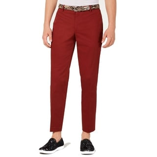 Link to INC Mens Pants Red Size 38X32 Slim-Fit Straight-Leg Chino Stretch Similar Items in Big & Tall