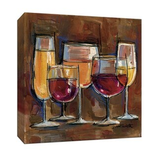 """PTM Images 9-152329  PTM Canvas Collection 12"""" x 12"""" - """"Vino Wine Glass II"""" Giclee Wine Art Print on Canvas"""