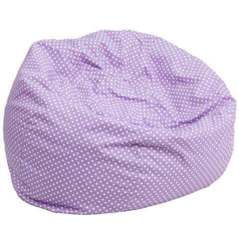 Offex Oversized Lavender Dot Bean Bag Chair