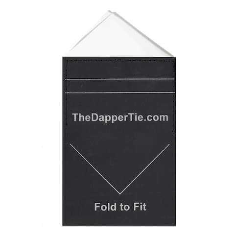 TheDapperTie - Men's Solid Triangle Pre Folded Pocket Square on Card - Regular